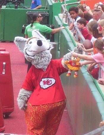 KC Wolf - the Chiefs' Mascot